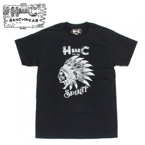 H BAR C エイチバーシー プリント Tシャツ スピリット Spirit ブラック