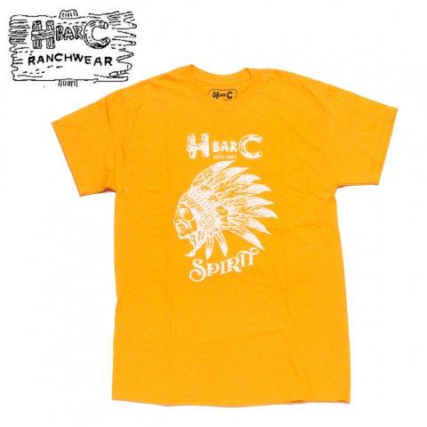 H BAR C エイチバーシー プリント Tシャツ スピリット Spirit ゴールド