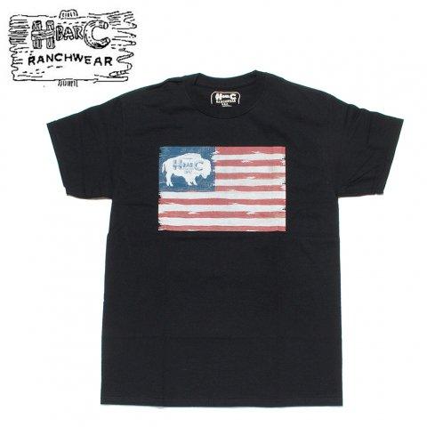 H BAR C エイチバーシー プリント Tシャツ アメリカンバッファロー American Buffalo ブラック