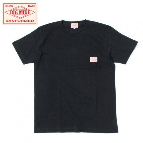 BIG MIKE ビッグマイク サングラスポケット Tシャツ 7.2oz ブラック