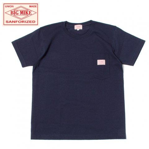 BIG MIKE ビッグマイク サングラスポケット Tシャツ 7.2oz ネイビー