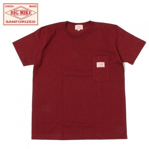 BIG MIKE ビッグマイク サングラスポケット Tシャツ 7.2oz バーガンディ