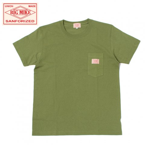 BIG MIKE ビッグマイク サングラスポケット Tシャツ 7.2oz オリーブ