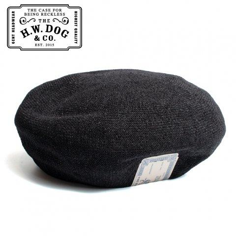 THE H.W.DOG&CO. BERET PE6200-20SS ドッグアンドコー 和紙 サマー ベレー帽 D-00322 ブラック