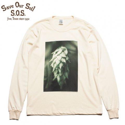 "S.O.S. from Texas × mojophoto Tシャツ 長袖 ""The Hop"" Photo Tee エスオーエス フロム テキサス ポストカード付き"