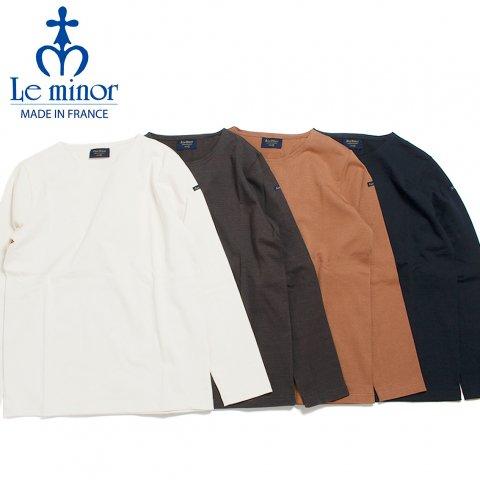 Le minor ルミノア バスクシャツ 無地 長袖 フランス製