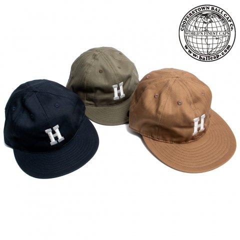COOPERSTOWN BALL CAP クーパーズタウン ボールキャップ 刺繍H ヘリンボーン コットン アメリカ製
