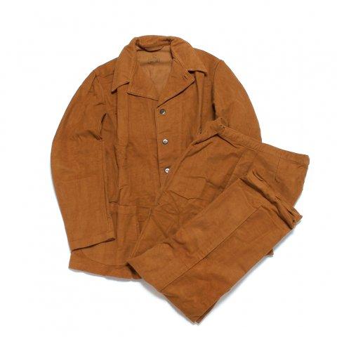 イタリア軍 ホスピタルジャケット パンツ セットアップ モールスキン ミリタリー (DEAD STOCK)