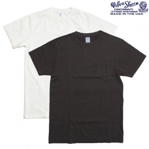 Velva Sheen ベルバシーン Tシャツ 2パック ポケット付き アメリカ製 ホワイト/ブラック