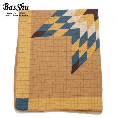 BasShu バッシュ パッチワーク キルトカバー 140×180 Patchwork Quilt Cover キャメル