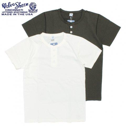 Velva Sheen ベルバシーン ヘンリーネック Tシャツ 半袖 無地 アメリカ製