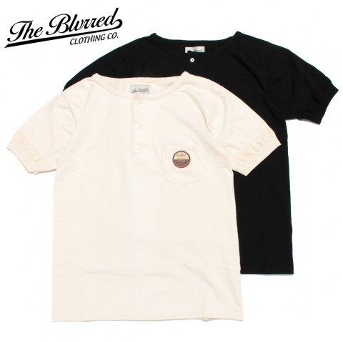 BLURRED CLOTHING ブラードクロージング ヘンリーネック Tシャツ 半袖 BLD011