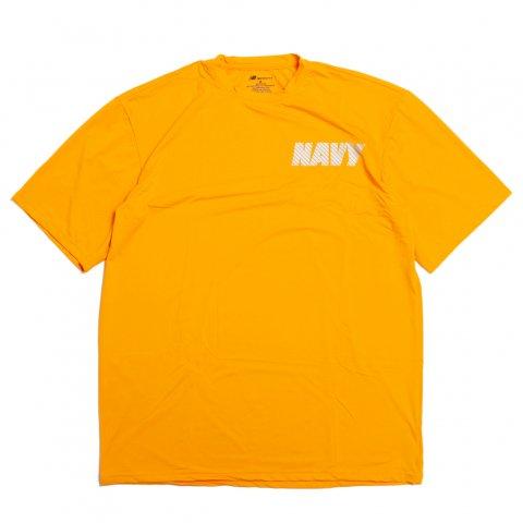 アメリカ軍 US NAVY トレーニング Tシャツ ニューバランス製 バックプリント MADE IN USA (DEAD STOCK)