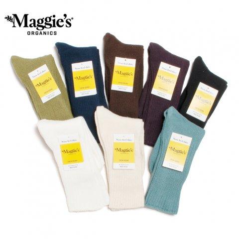 Maggie's ORGANICS オーガニックコットン クルーソックス マギーズ オーガニックス アメリカ製