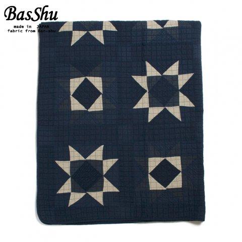 BasShu バッシュ パッチワーク キルトカバー 140×180 Patchwork Quilt Cover ブルー