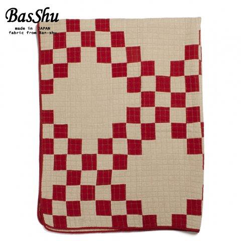 BasShu バッシュ パッチワーク キルトカバー 140×180 Patchwork Quilt Cover レッド