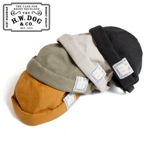 THE H.W.DOG&CO. WASH L ROLL CAP ドッグアンドコー ウォッシュ ロールキャップ D-00538 日本製