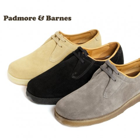 PADMORE & BARNES パドモアアンドバーンズ P500 プレーントゥシューズ スウェード Original Sports Shoe