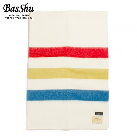 BasShu バッシュ ウールブランケット 130×180 マルチボーダー2 泉大津 日本製 Wool Blanket