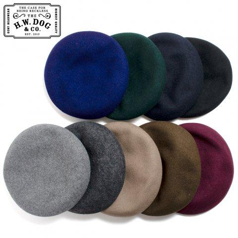THE H.W.DOG&CO. BERET ドッグアンドコー ウール ベレー帽 D-00022