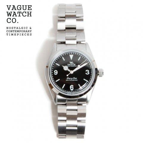 VAGUE WATCH Co. ヴァーグウォッチカンパニー Every-One エヴリィワン 自動巻き 腕時計 34mm 日本製 ブラック