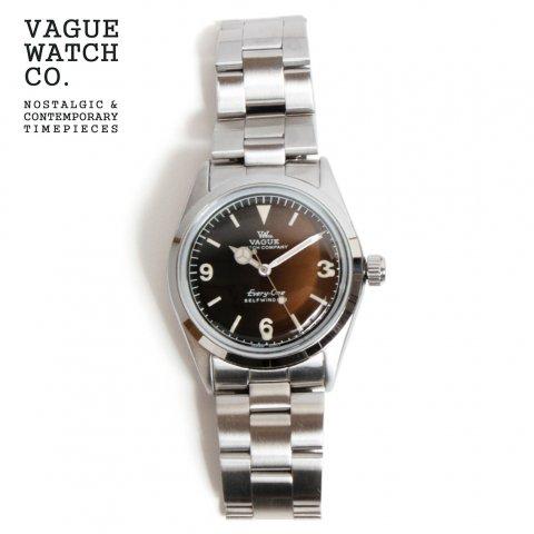 VAGUE WATCH Co. ヴァーグウォッチカンパニー Every-One エヴリィワン 自動巻き 腕時計 34mm 日本製 ブラウン