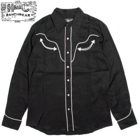 H BAR C エイチバーシー ウエスタンシャツ The San Fernando Tencel Black Label USA製
