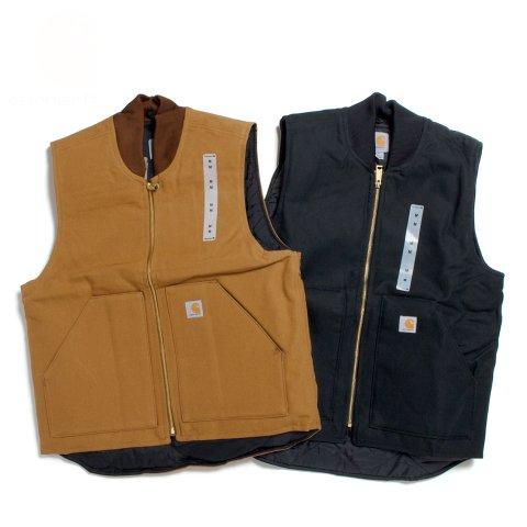 Carhartt カーハート ダックベスト 中綿 キルティング ワークウェア CRHTT-V01