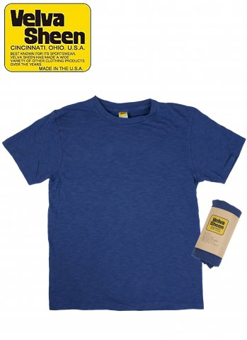 Velva Sheen  ベルバシーン YellowRebel イエローレーベル ショートスリーブレギュラーロールTシャツ ブルー