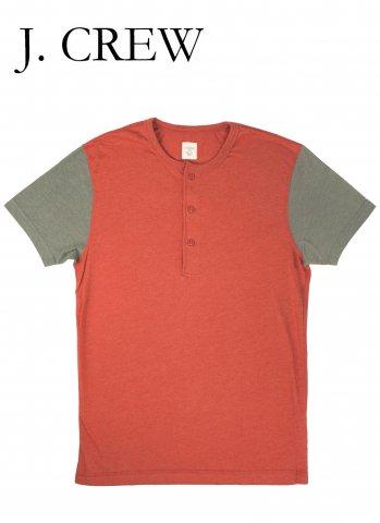 J.CREW ジェイクルー ヘンリーネック Tシャツ レッド/グレー