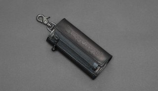 TEARS OF SWAN-LEATHER ZIP KEY CASE(ALL BLACK)