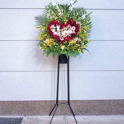 ハート型スタンド花