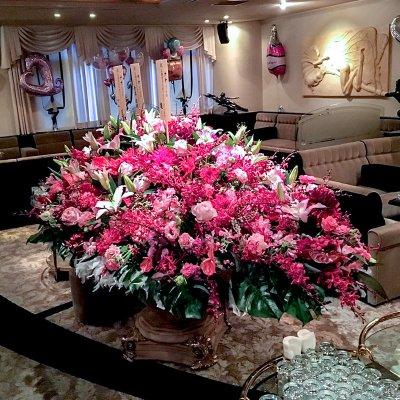 テーブル生花装飾