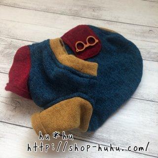 袖付きセーター*めがね