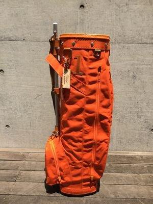 木の庄帆布 キャディバッグ オレンジ