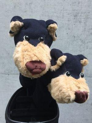 犬のヘッドカバー DR・FW用2個セット ネイビー
