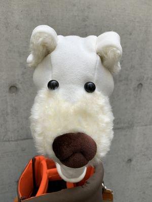 犬のヘッドカバー ドライバー用 ホワイト