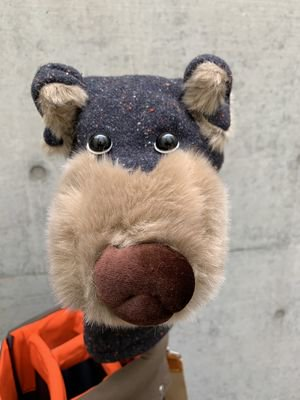 犬のヘッドカバー ドライバー用 ツイードブラック
