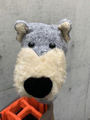 犬のヘッドカバー ドライバー用 ツイードグレー