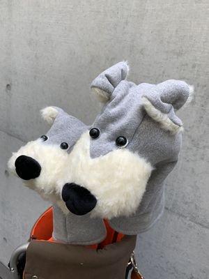 犬のヘッドカバー DR・FW用2個セット グレー