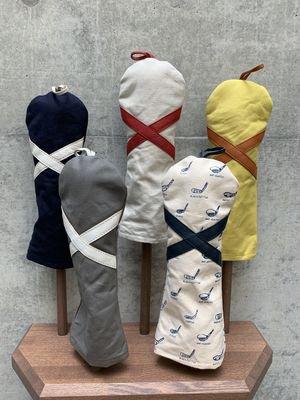 木の庄帆布 帆布×レザーヘッドカバー フェアウェイウッド【クロス】