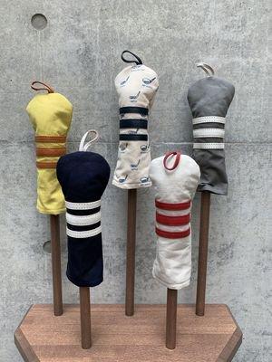 木の庄帆布 帆布×レザーヘッドカバー ユーティリティー【ボーダー】