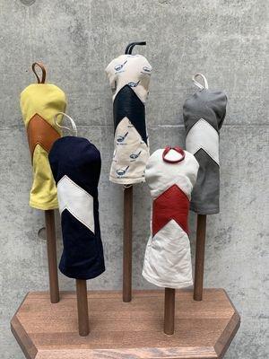 木の庄帆布 帆布×レザーヘッドカバー ユーティリティー【アロー】