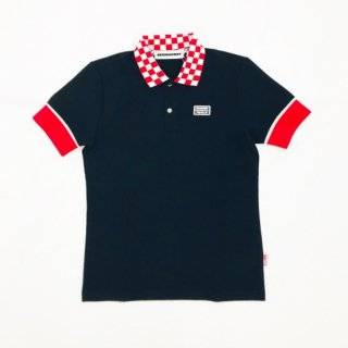 <MEN> Checkered polo / NAVY