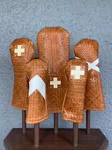 木の庄帆布 メッシュレザーヘッドカバー キャメル