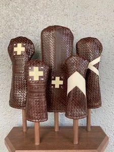 木の庄帆布 メッシュレザーヘッドカバー チョコ