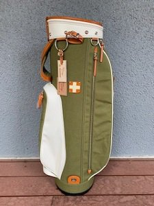 木の庄帆布 '21クロスハンドルキャディバッグ オリーブ