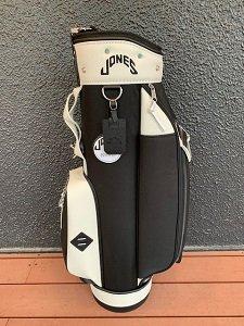 JONES RIDERキャディバッグ ブラック/ホワイト