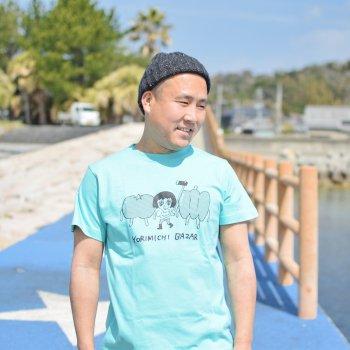 大橋裕之×YORIMICHI BAZAR Tシャツ【GIRL柄】