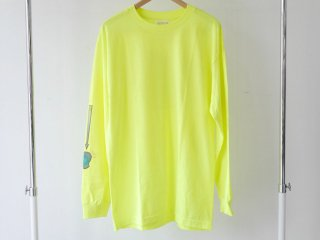 FLASH LONG SLEEVE TEE(NEON YELLOW) -FORTYFOUR- 16S/S